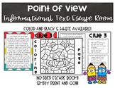 Point of View Informational Text Escape Room
