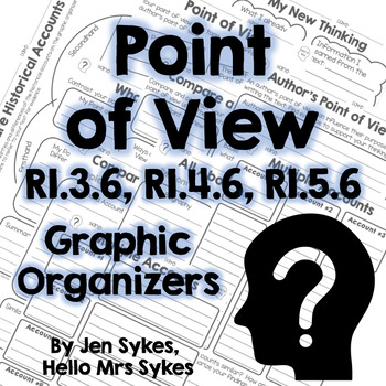 Point of View Informational Text Graphic Organizers RI.3.6 RI.4.6 RI.5.6