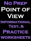 Point of View Activities Literacy Writing Activities NO PREP