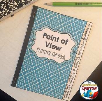 Point of View: Interactive Notebook Flip Book (quick reference, study guide)
