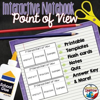 Point Of View Interactive Notebook Activities For Middle And High - Interactive notebooks high school