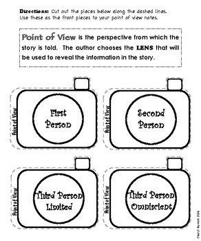Point of View Interactive Notebook Pages