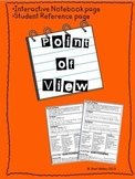 Point of View - Interactive Notebook Pages for Common Core Standards