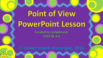Point of View:  Interactive PPT Lesson, Graphic Organizer,