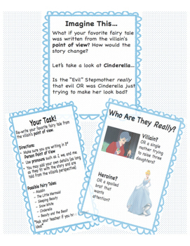 Fairy Tale Creative Writing Point of View  (Common Core Aligned!)