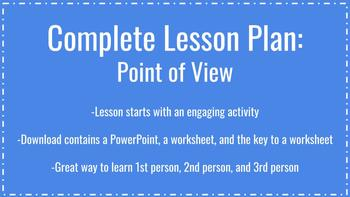Point of View Lesson Plan