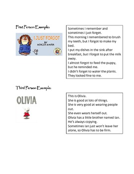 Point of View Lesson Plan and Assessment- Common Core Connection
