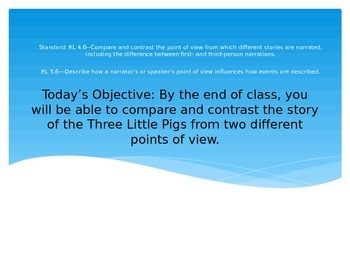 Point of View Lesson--Three Little Pigs