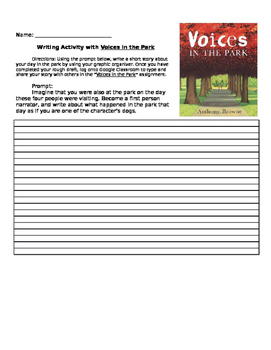 """Point of View Lesson with """"Voices in the Park"""""""
