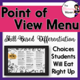 Point of View Menu of Differentiated Activities Based on B