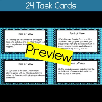Point of View Task Cards / Game (28 CARDS)