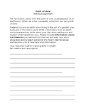 Point of View Mini Writing Assignment and Rubric