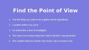 Point of View MiniLesson