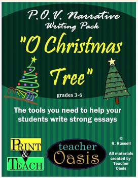 """Point of View Narrative Writing Prompt """"O Christmas Tree"""""""