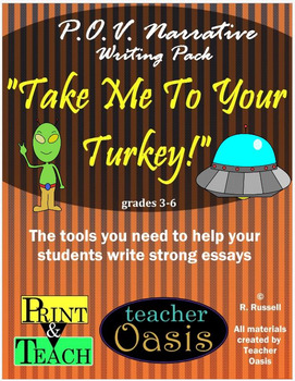 """Point of View Narrative Writing Prompt """"Take Me To Your Turkey!"""""""