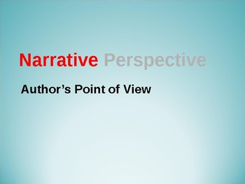 Point of View Notes PPT