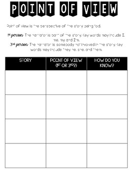 Point of View Organizer - Freebie