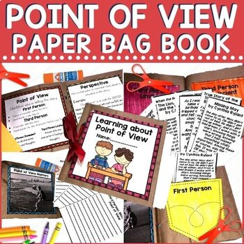 Do your students confuse Point of View and Perspective? Do you need to find a fun way to practice point of view? Check out this paper bag book for your RTI sessions, workstations, or for afterschool lessons