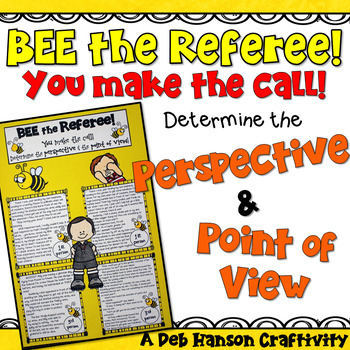 Point of View and Perspective Craftivity (1st Person & 3rd