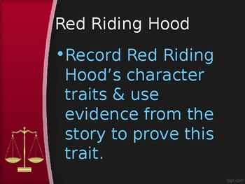 Point of View & Perspective Jury Questions for two Red Riding Hood books