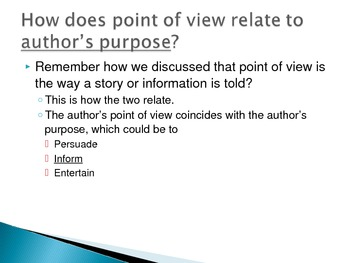 Teaching Point of View PowerPoint