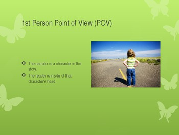 Point of View PowerPoint - Includes Practice and Activities Common Core RL6