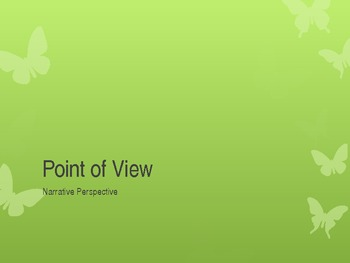 Point of View PowerPoint - Includes Practice and Activitie