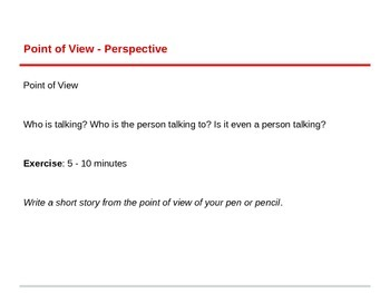 Point of View - Powerpoint for ESL