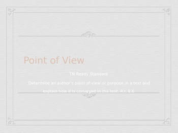 Point of View Powerpoint (nonfiction text)