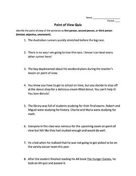 Point of View Practice Quiz