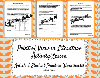 Point of View in Literature Activity
