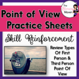 Point of View Practice Sheets - 3 Handouts on First & Thir