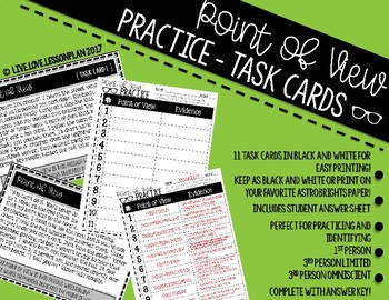 Point of View Practice Task Cards