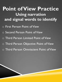 Point of View Practice (accompanies practice presentation)