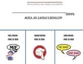 Point of View Printable Flipbook and Practice worksheet wi