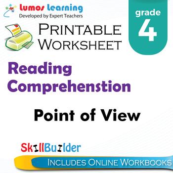 Point of View Printable Worksheet, Grade 4