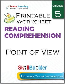 Point of View Printable Worksheet, Grade 5