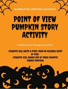 Point of View Pumpkin: Narrative Story Writing Activity