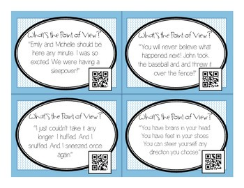 Point of View QR Task Cards