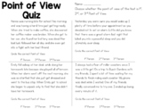Point of View Quiz for 1st, 2nd, & 3rd Person