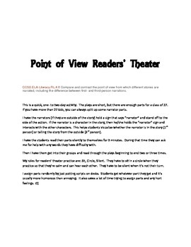 Point of View Readers' Theater