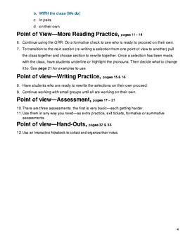 Point of View--Fiction Reading Comprehension Skills for 4th - 8th Grades