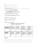 Point of View- Reading Rubric Ontario Curriculum