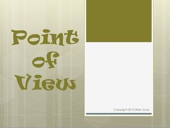 Point of View Reading Strategy