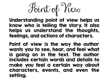 Point of View Reading and Writing Task Cards