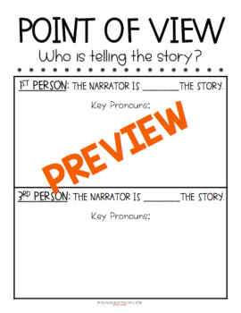 Point of View Resources: Interactive Notebook, Assessments, Song Lyrics