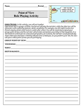 Point of View Role Playing Activity