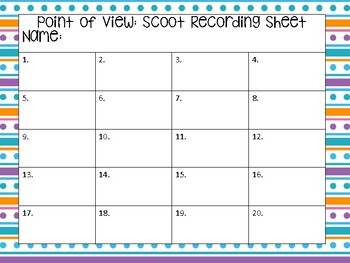 Point of View: Scoot Cards