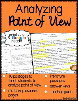 Point of View Reading Comprehension Passages with Questions