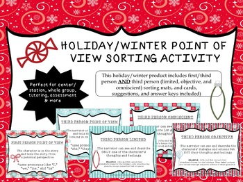 Point of View Sorting Activity {Winter and Holiday Themed}